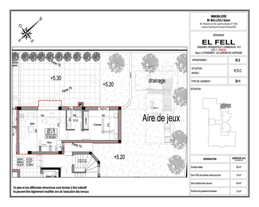 s+1 residence el Fell